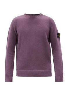 Stone Island Logo-patch wool-blend sweater