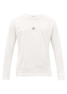 Stone Island Logo-print long-sleeved cotton T-shirt