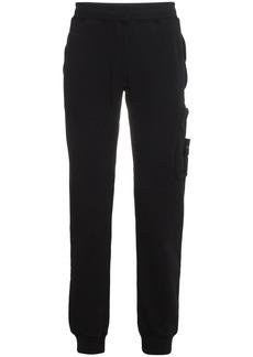 Stone Island Logo Sweat Pants - Black