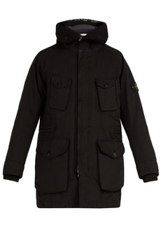 Stone Island Long-line down-filled hooded coat