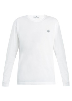 Stone Island Long-sleeved cotton-jersey T-shirt