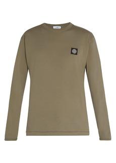 Stone Island Long-sleeved cotton jersey T-shirt