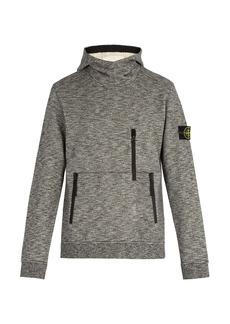 Stone Island Melange cotton hooded sweatshirt