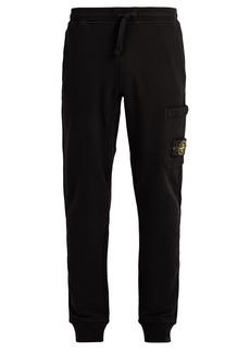 Stone Island Mid-rise cotton track pants