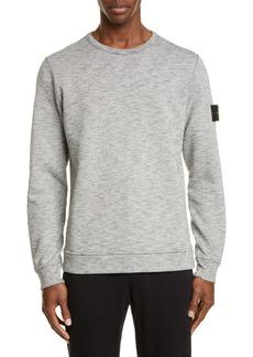 Stone Island Mélange Fleece Crewneck Sweatshirt