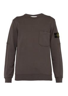 Stone Island Patch-pocket logo-sleeve cotton sweatshirt