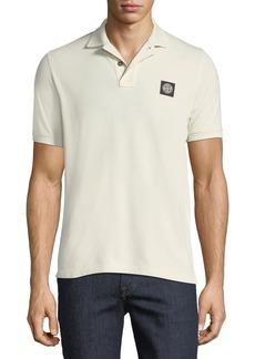 Stone Island Piqué-Knit Polo Shirt