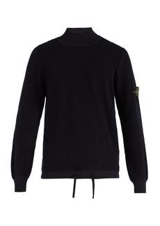 Stone Island Polo-neck cotton-fleece sweater