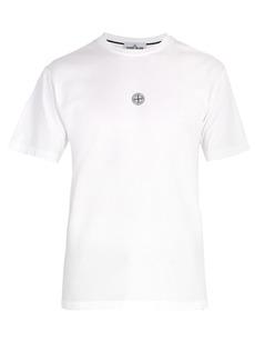 Stone Island Reflective-logo cotton-jersey T-shirt