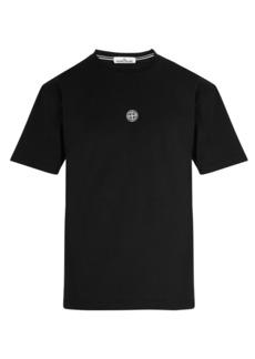 Stone Island Reflective logo-print cotton T-shirt