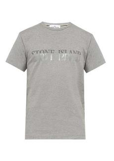 Stone Island Reflective mirror-logo print cotton-jersey T-shirt