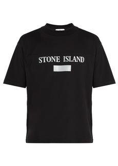 Stone Island Reflective-panel cotton-jersey T-shirt