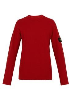 Stone Island Reverse loopback-cotton T-shirt