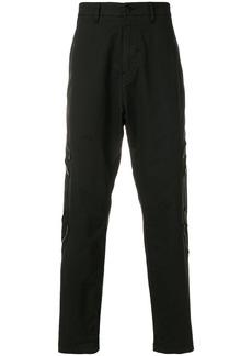 Stone Island Shadow Project drop crotch cargo trousers - Black