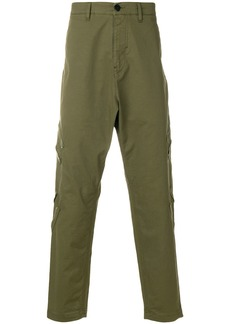 Stone Island Shadow Project drop crotch cargo trousers - Green
