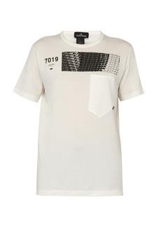 Stone Island Shadow Project Geometric-print cotton T-shirt