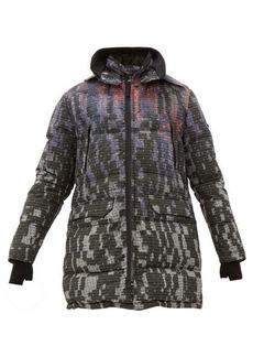 Stone Island Shadow Project Grid tie-dye wool-blend ripstop down coat