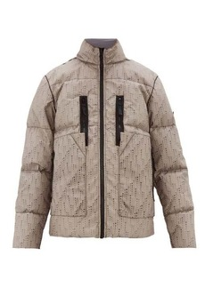 Stone Island Shadow Project Laser-cut down-filled poly-hide jacket