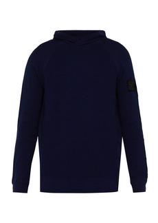 Stone Island Shadow Project Logo-patch cotton hooded sweatshirt