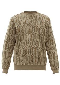 Stone Island Shadow Project Marled cotton-blend fleece sweatshirt