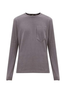 Stone Island Shadow Project Patch-pocket long-sleeved cotton T-shirt