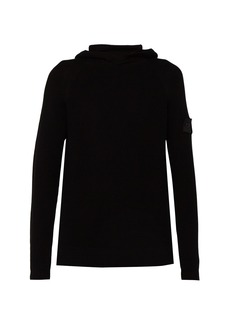 Stone Island Shadow Project Ribbed-knit cotton hooded sweater