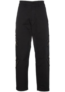 Stone Island Shadow Project Zip Detail Trousers - Black