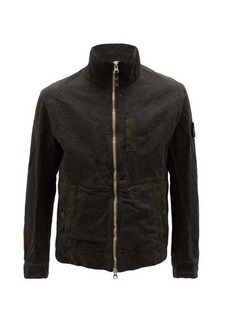 Stone Island Shadow Project Zip-up technical cotton-blend jacket