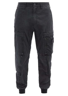Stone Island Shadow Project Zipped cotton-blend cargo trousers