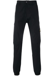 Stone Island side pocket tapered trousers - Black