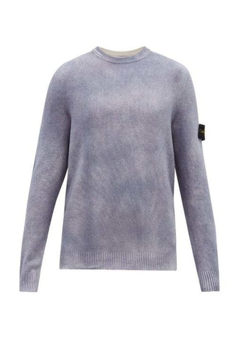 Stone Island Spray-fade cotton-blend sweater