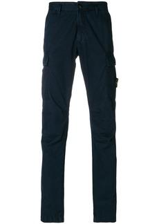 Stone Island straight-leg cargo trousers - Blue