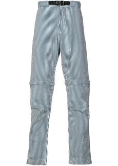 Stone Island striped straight leg trousers - Blue