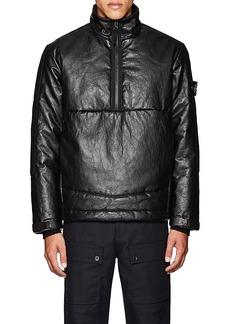 Stone Island XO Barneys New York Men's Insulated Leather Coat