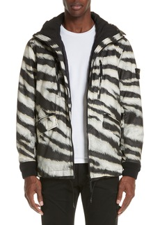 Stone Island Zebra Print Hooded Jacket