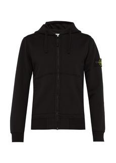 Stone Island Zip-through cotton hooded sweatshirt