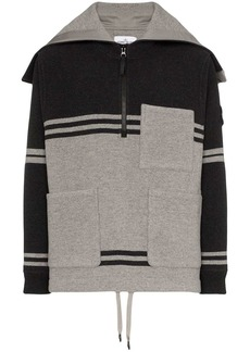 Stone Island stripe hooded pocket zip jumper