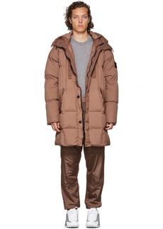 Stone Island Tan Down Hooded Puffer Blouson Jacket