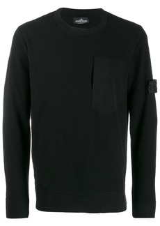 Stone Island textured knit sweater