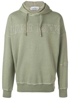 Stone Island upside down logo hoodie