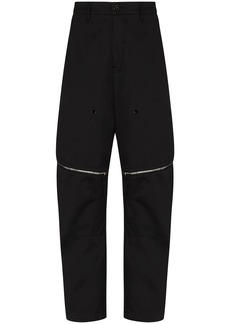 Stone Island vent zipped tapered trousers