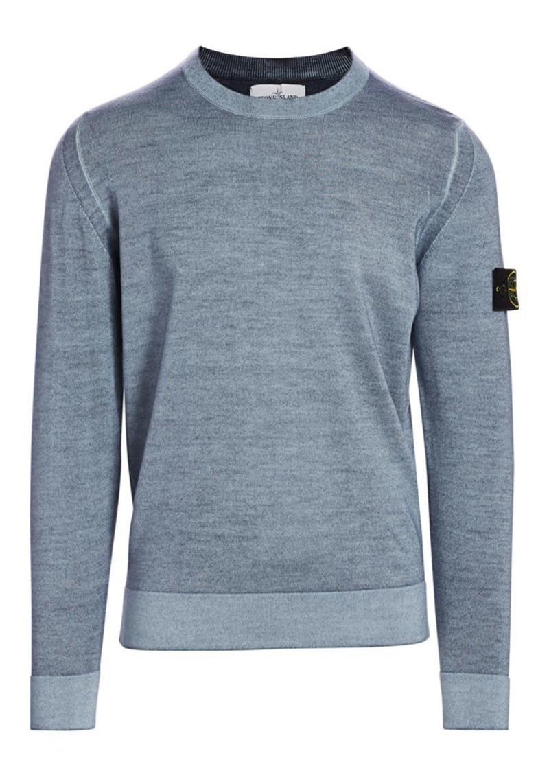 Stone Island Washed Wool Crewneck Sweater
