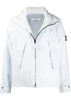 Stone Island x Gente Roma stonewashed-effect zipped jacket