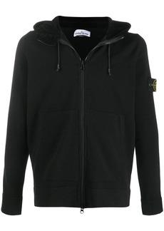Stone Island zip-front logo hoodie