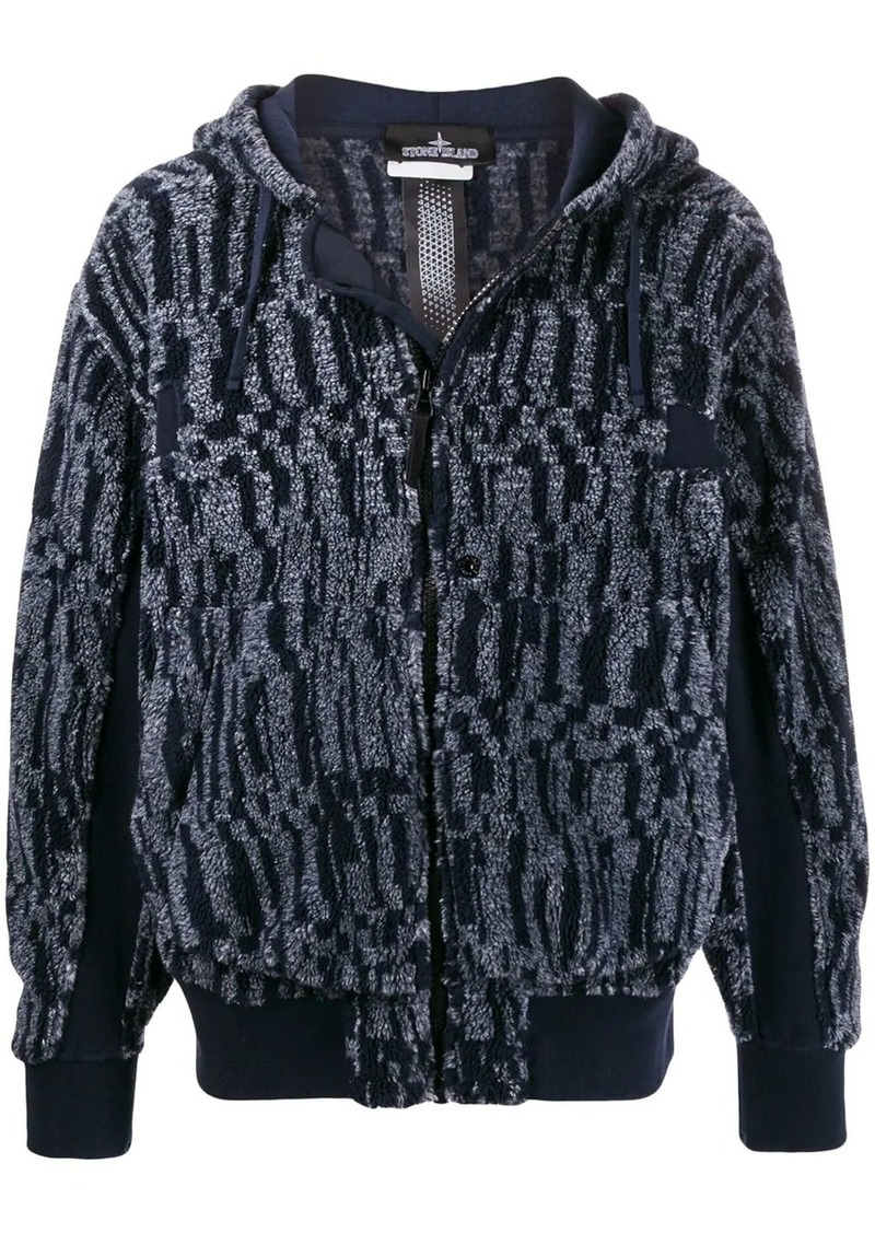 Stone Island zip-up knit jacket