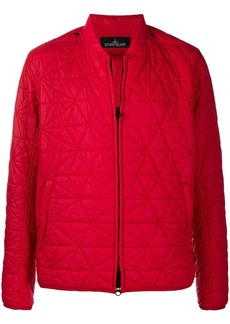 Stone Island zip-up quilted bomber jacket