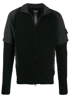 Stone Island zipped textured jacket