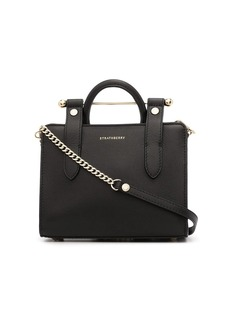 Strathberry crocodile-effect striped tote bag