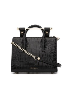Strathberry crocodile-effect tote bag