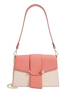 Strathberry Bicolor Crescent Calfskin Leather Shoulder Bag